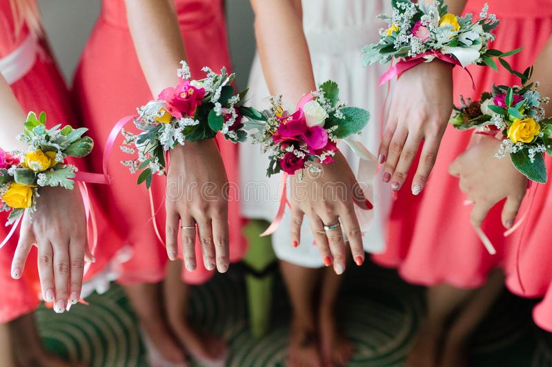 Download Bridesmaids stock photo. Image of floral, beautiful - 113823390