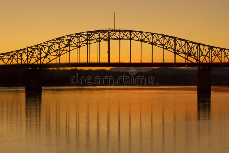 Download Bridge stock image. Image of background, dusk, outdoors - 18368839