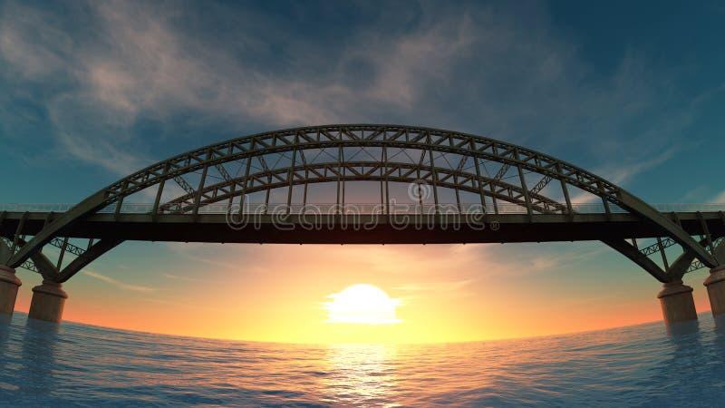 Download Bridge stock illustration. Image of bridge, nature, girder - 21359585