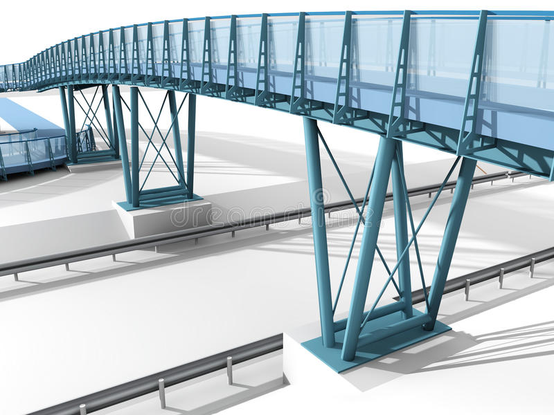 Download Bridge stock illustration. Illustration of support, white - 25227575