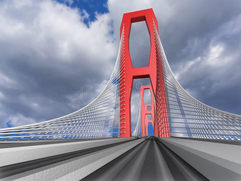 Download Bridge stock illustration. Image of bridge, cable, metal - 25593108