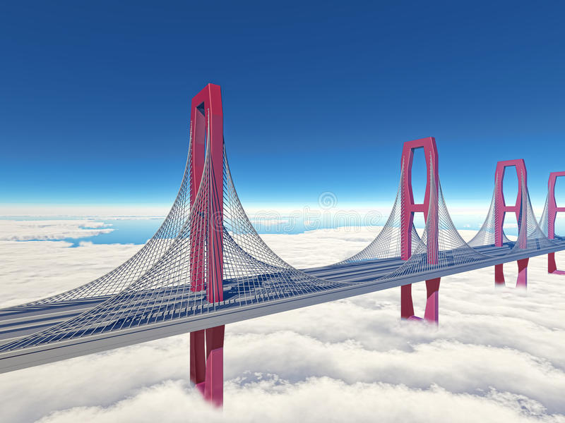 Download Bridge stock illustration. Image of cable, steel, arch - 25593168