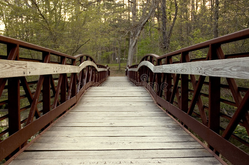 Download Bridge 3 stock image. Image of railing, wood, forest, path - 119835