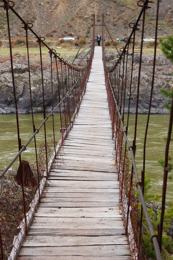 On the bridge. royalty free stock photography