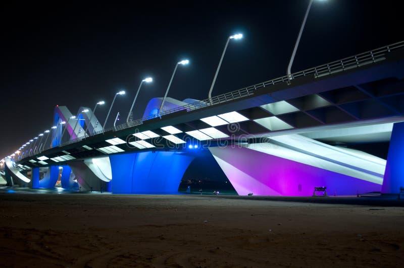 Bridge in Abu Dhabi stock image