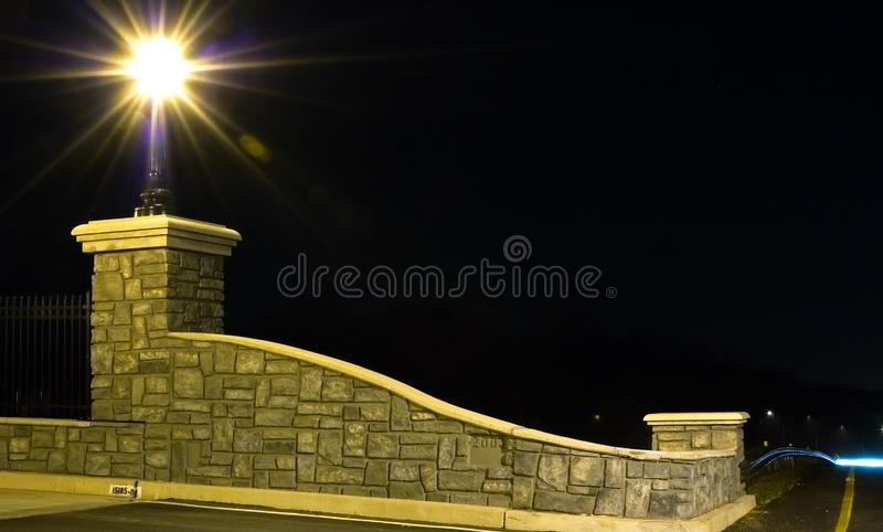 Bridge Abutment at Night royalty free stock photography