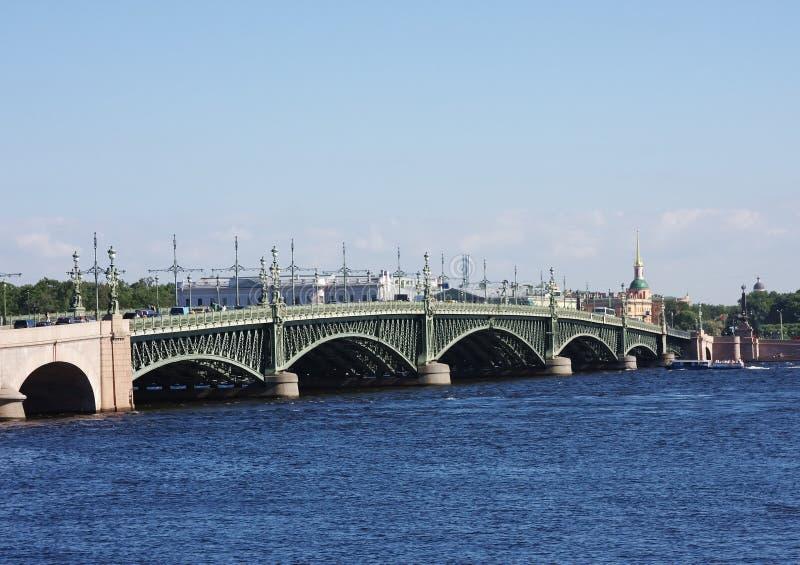 Bridge Across The River Neva Stock Photos