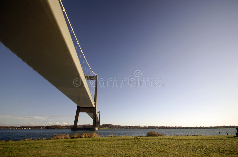 Bridge in the air stock photography