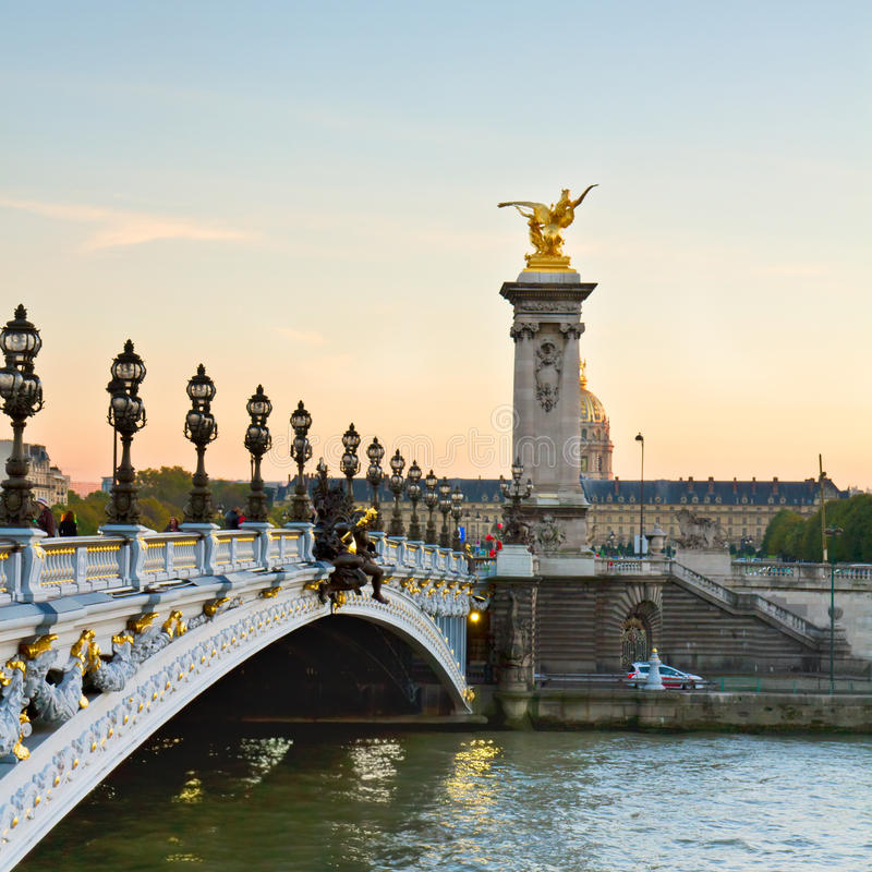 Bridge of Alexandre III in Paris, France royalty free stock photography