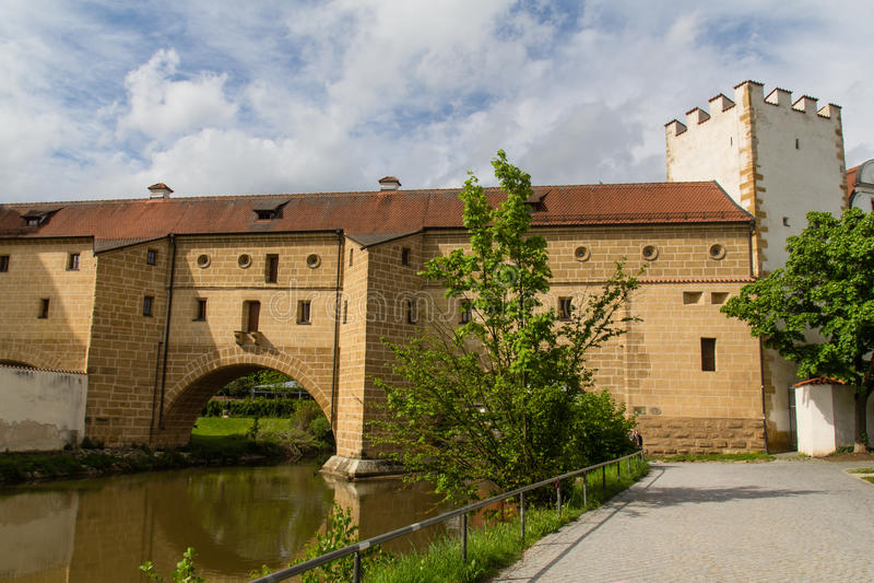 Bridge in Amberg royalty free stock photo