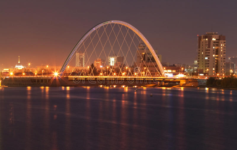 Download Bridge at Astana stock photo. Image of evening, nation - 16951254