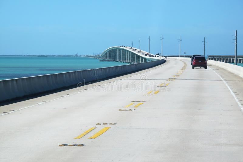Bridge on atlantic intracoastal highway US 1, Florida Keys interstate, Key West, Florida, USA royalty free stock photography