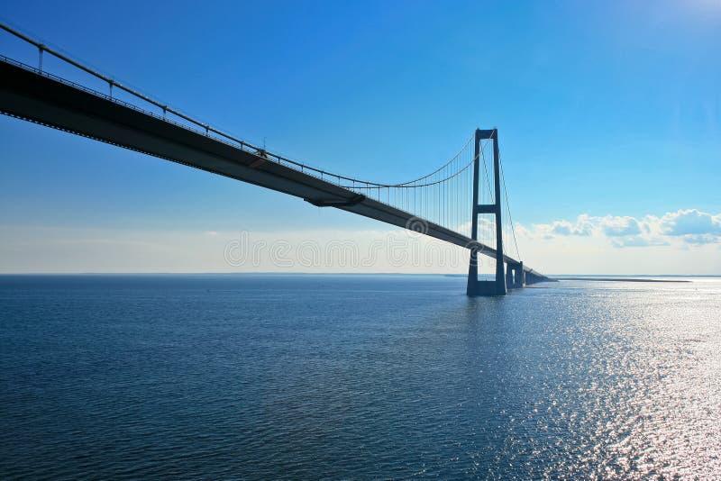 Bridge on Baltic sea royalty free stock image