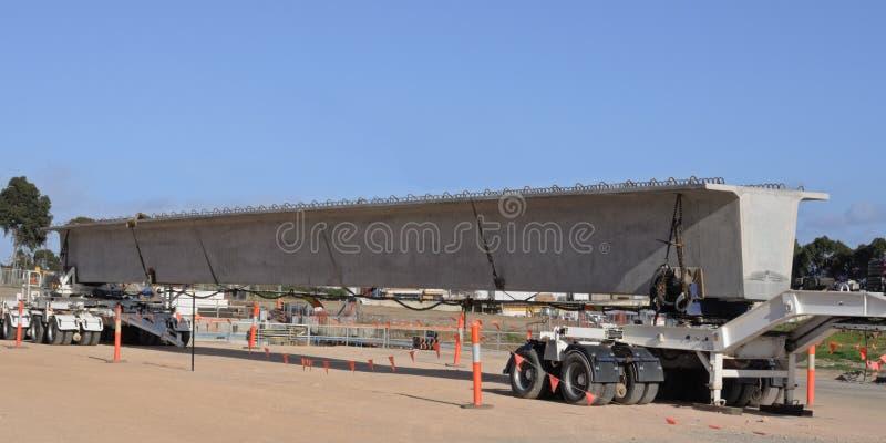 Download Bridge beam on trailer stock photo. Image of construct - 23000958