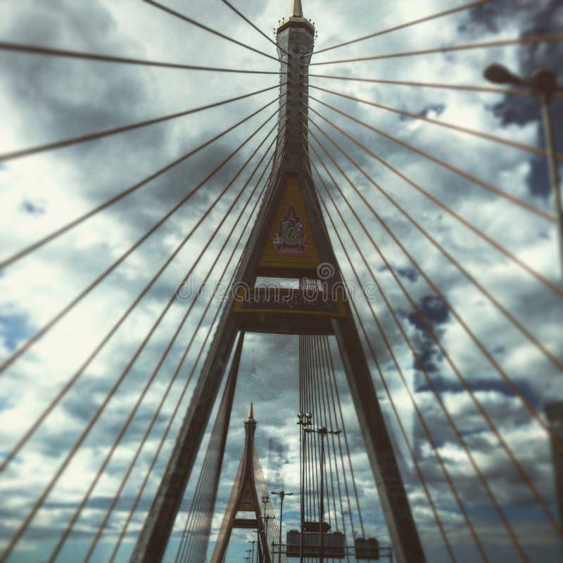 Bridge of Bhumibol royalty free stock photo