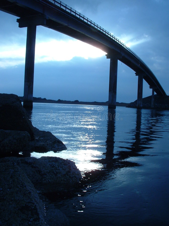 Bridge with blue sky royalty free stock photos