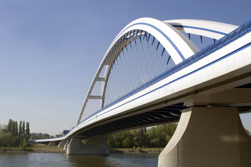 Bridge in Bratislava royalty free stock images