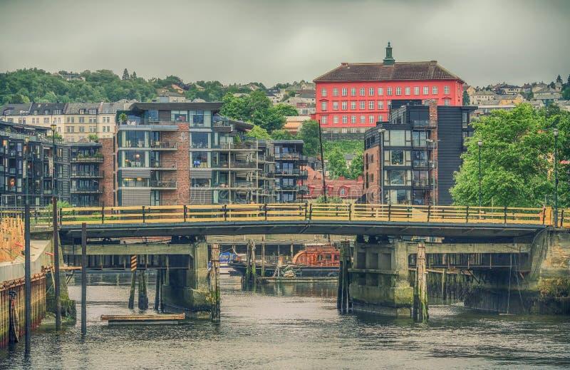 Bridge Brattørbrua, Trondheim, Norway stock image