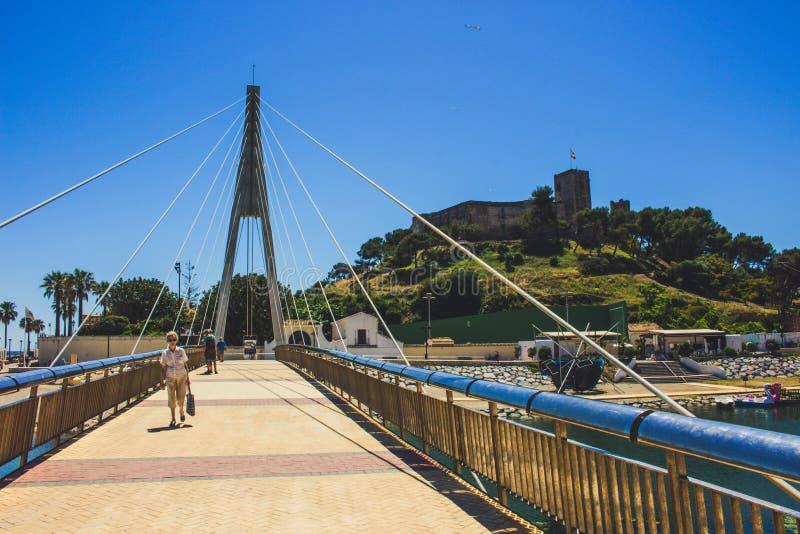 Bridge. Bridge over the river ¨Fuengirola¨ in Fuengirola. Malaga province, Andalusia, Spain. Picture taken – 15 may 2018 stock images