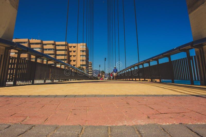 Bridge. Bridge over the river ¨Fuengirola¨ in Fuengirola. Malaga province, Andalusia, Spain. Picture taken – 15 may 2018 royalty free stock photo
