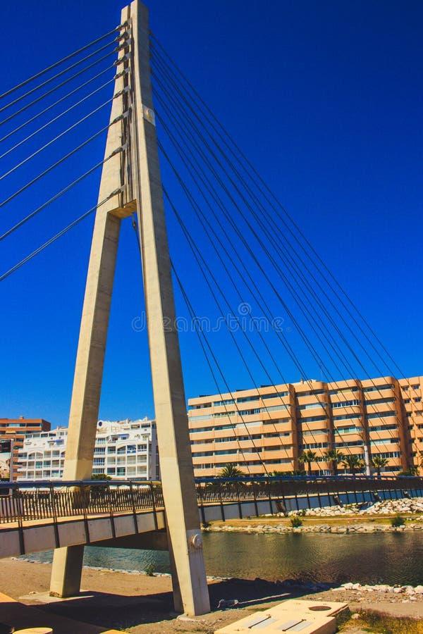 Bridge. Bridge over the river ¨Fuengirola¨ in Fuengirola. Malaga province, Andalusia, Spain. Picture taken – 15 may 2018 stock photo