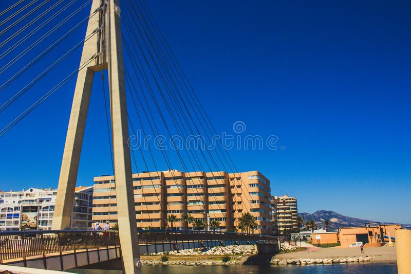 Bridge. Bridge over the river ¨Fuengirola¨ in Fuengirola. Malaga province, Andalusia, Spain. Picture taken – 15 may 2018 royalty free stock images