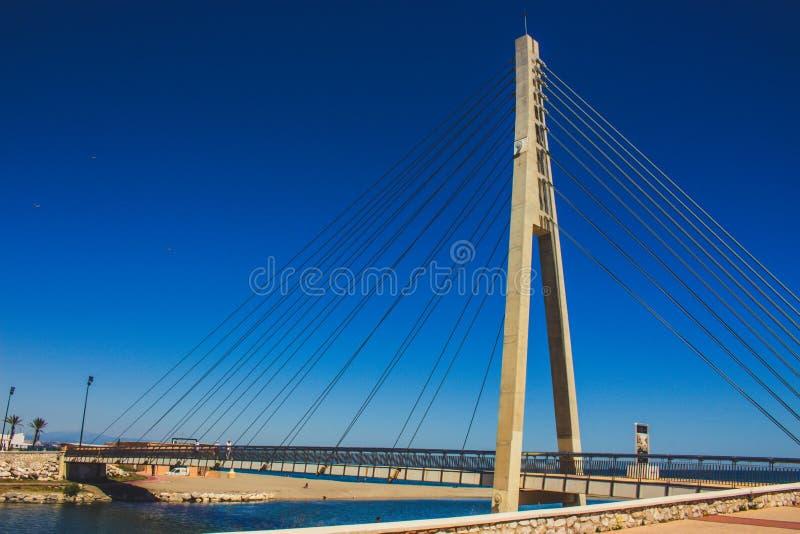 Bridge. Bridge over the river ¨Fuengirola¨ in Fuengirola. Malaga province, Andalusia, Spain. Picture taken – 15 may 2018 royalty free stock photos