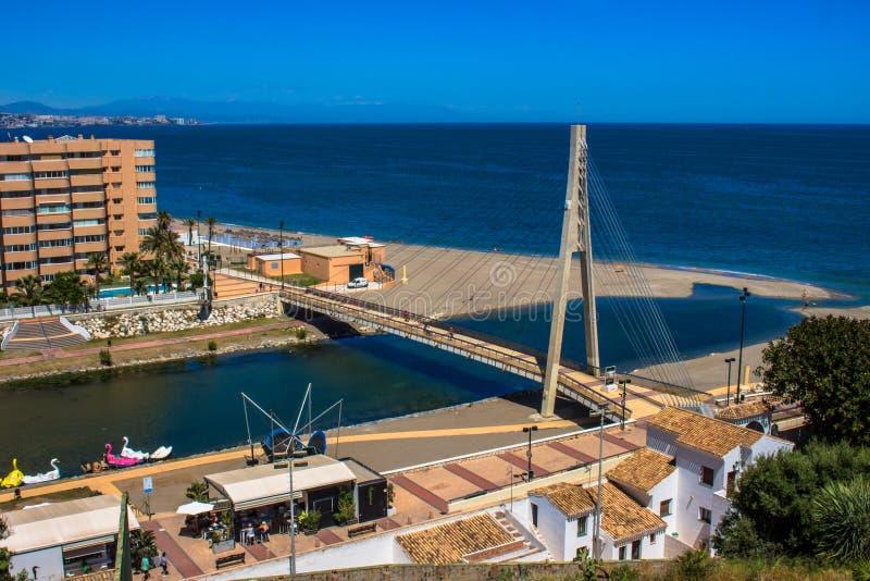 Bridge. Bridge over the river ¨Fuengirola¨ in Fuengirola. Malaga province, Andalusia, Spain. Picture taken – 15 may 2018 royalty free stock image