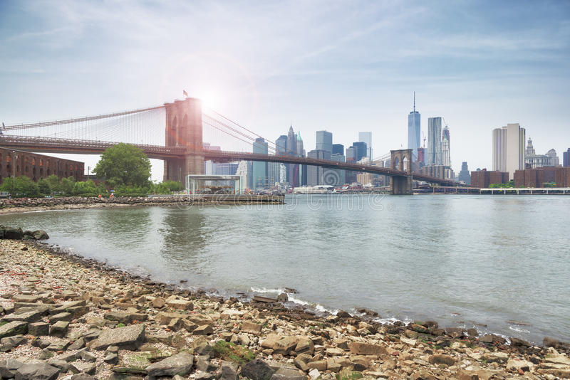 bridge brooklyn city new york στοκ εικόνες