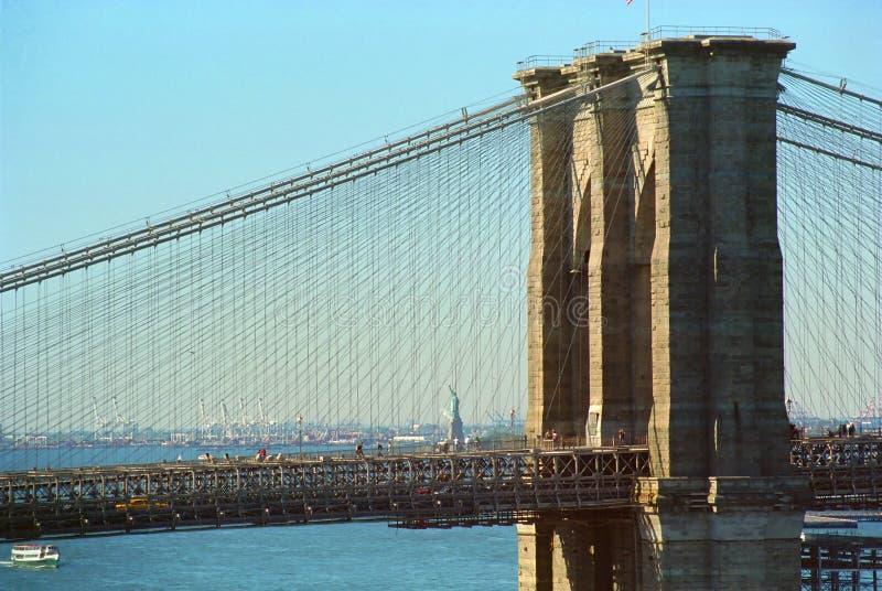 bridge brooklyn New York royaltyfri bild