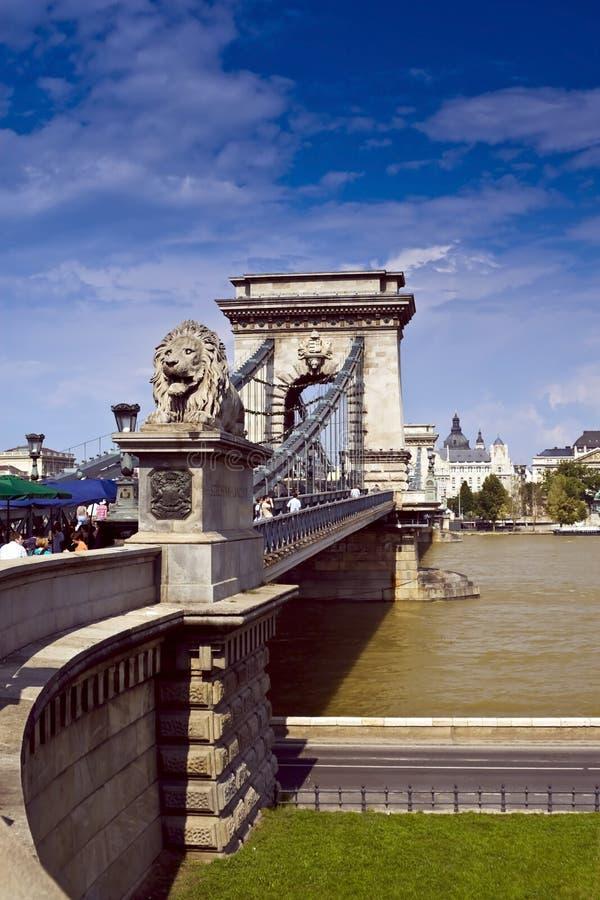Bridge in Budapest royalty free stock image