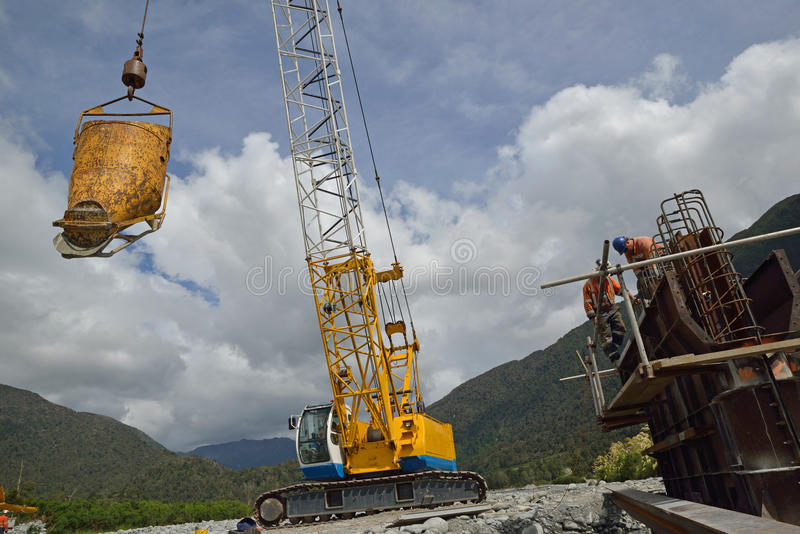 Bridge builders royalty free stock photo