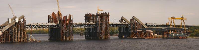 Bridge building panorama royalty free stock photography