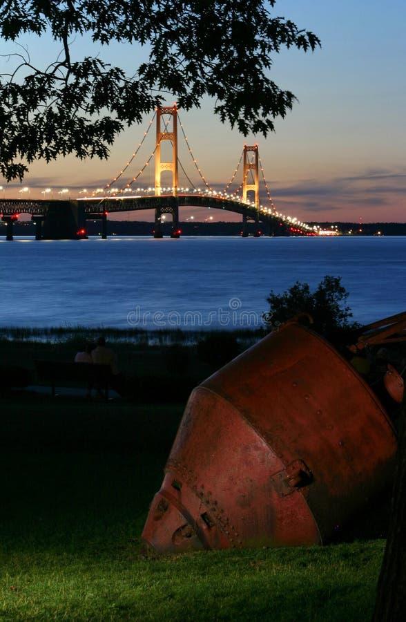 Bridge and Bouy stock images