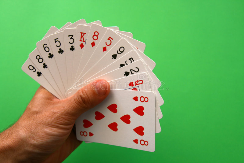 Bridge cards royalty free stock image