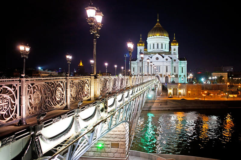 Download Bridge And Cathedral Of Christ The Saviour Stock Image - Image: 19576625