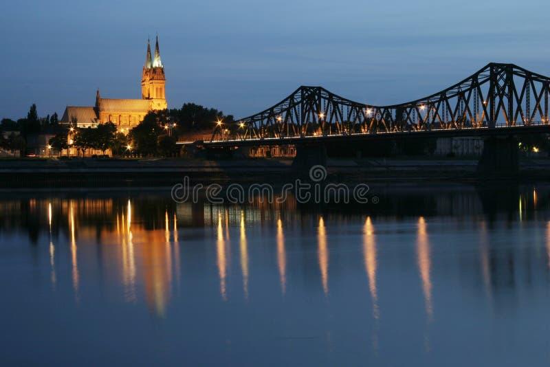 bridge cathedral night στοκ εικόνες