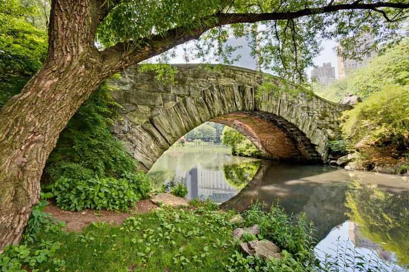 Bridge in Central Park royalty free stock image