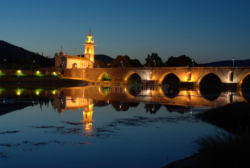 Download Bridge And Church In Ponte De Lima, Portugal Stock Image - Image: 20751161