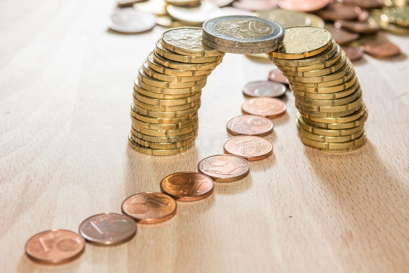 Bridge of coins royalty free stock photo