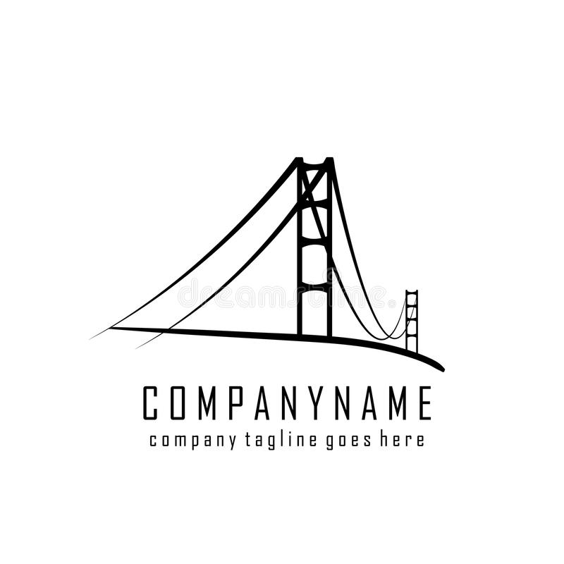 Bridge company logo royalty free illustration