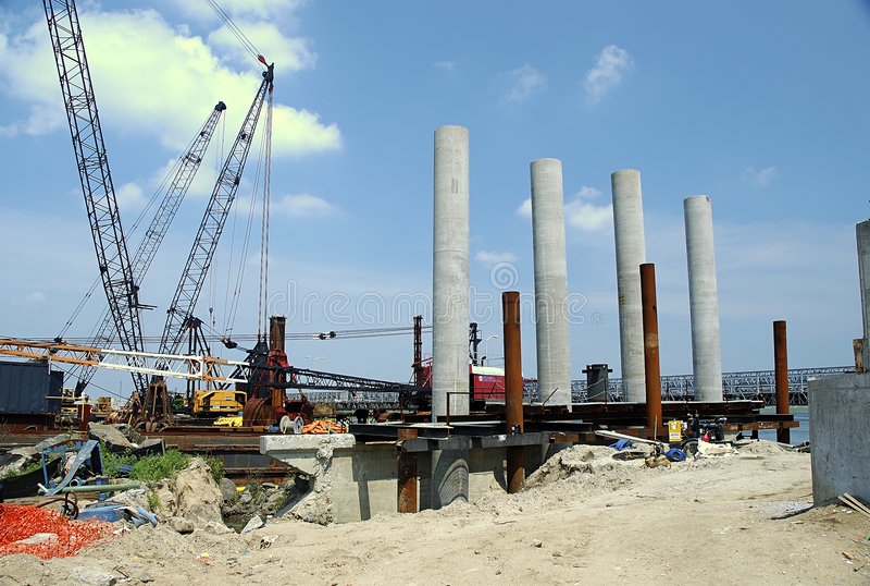 Bridge Construction royalty free stock photo