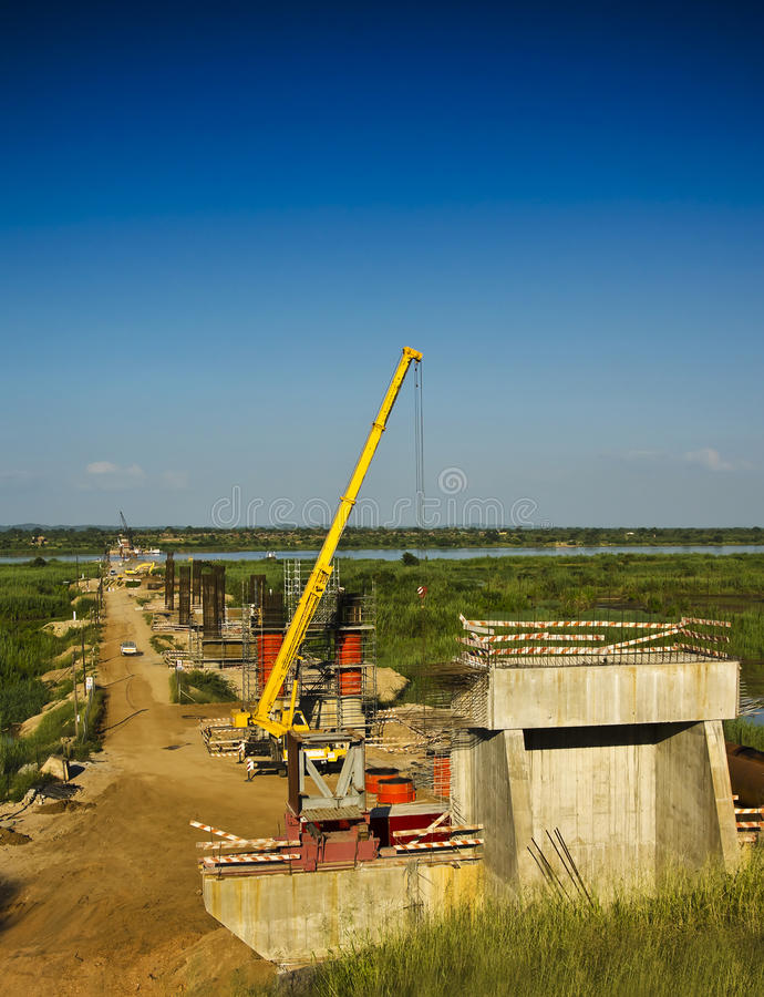 Download Bridge - Construction Site stock image. Image of building - 24015203