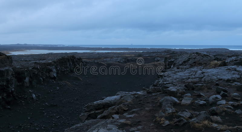 Bridge between the Continents, Iceland royalty free stock photo