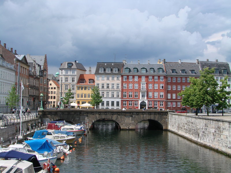 Bridge In Copenhagen Royalty Free Stock Photos