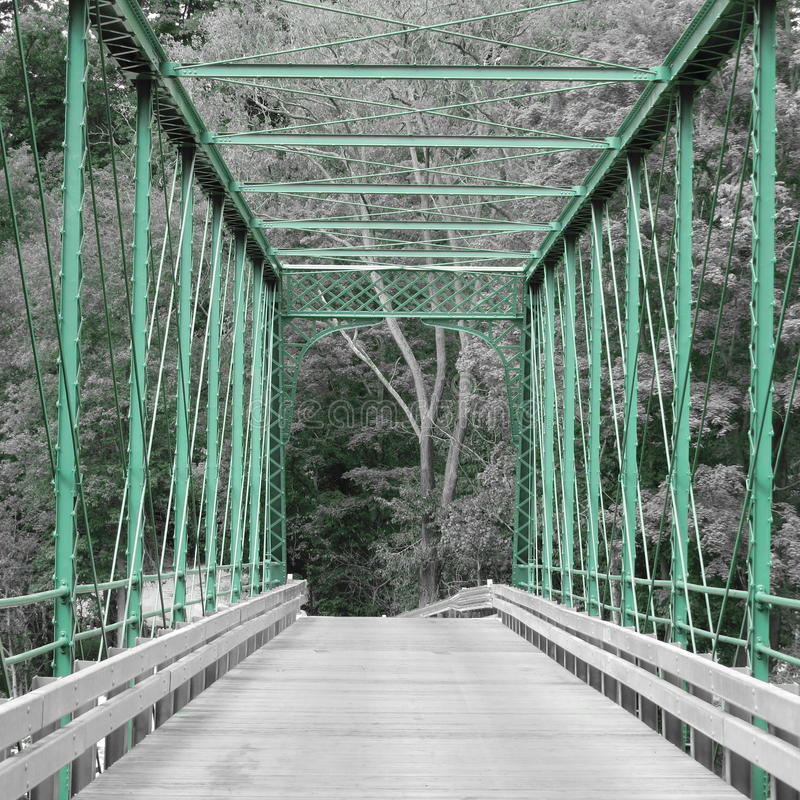 Bridge. The bridge. Country back road. Gray scale with color photo stock image