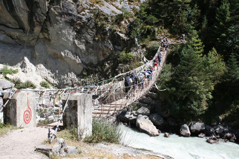 Bridge Crossing royalty free stock images