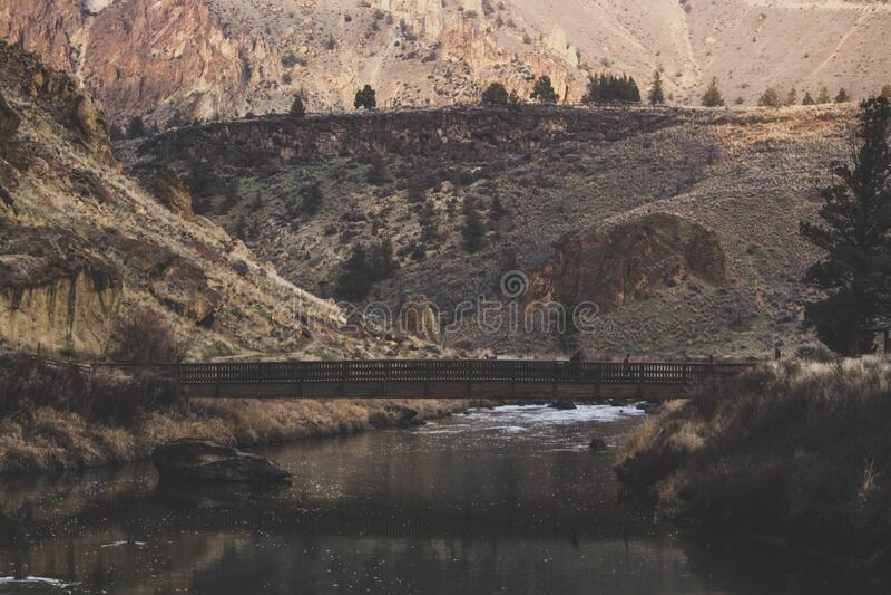 Bridge Crossing River Canyon Free Public Domain Cc0 Image
