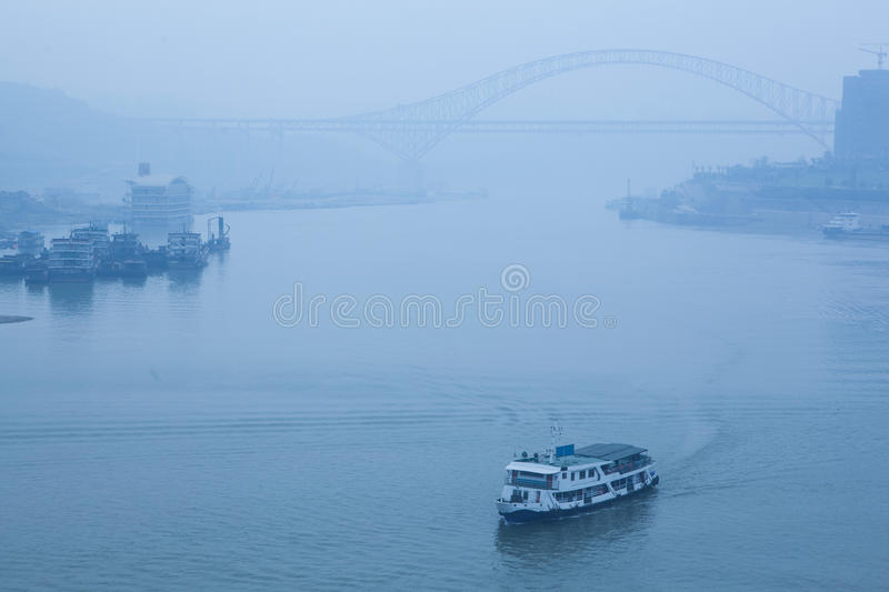 Download Bridge Crossing The River, Heavy Fog And Haze Stock Images - Image: 34791354