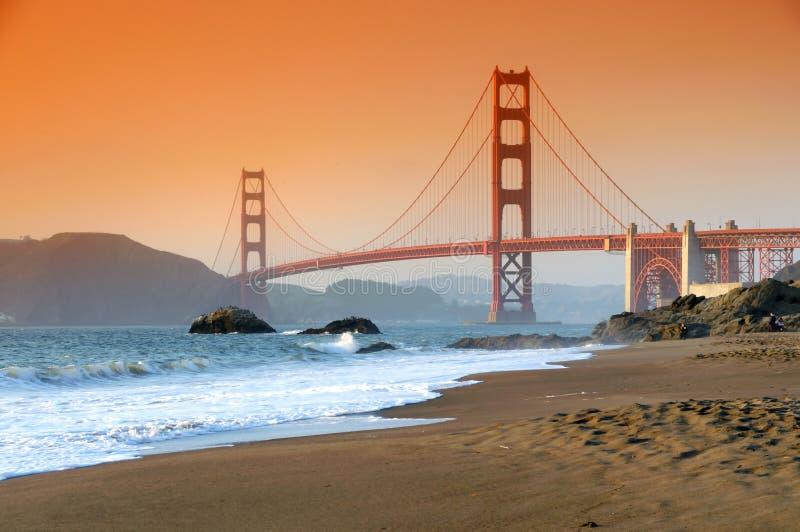 bridge den francisco porten guld- san fotografering för bildbyråer